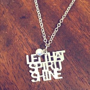 "Let That Spirit Shine Necklace Handmade 18"" New"